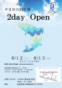 2017夏2dayオープンポスター